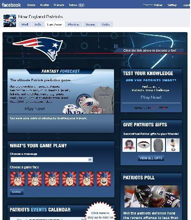 Patriots Fan Page